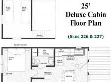 25' Deluxe Cabin Floor Plan