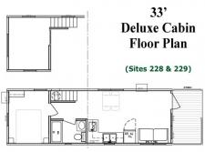 33' Deluxe Cabin Floor Plan