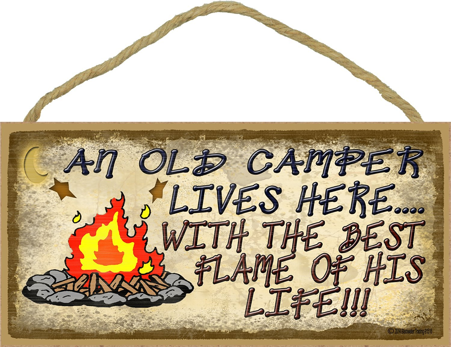 An Old Camper Lives Here Sign White River Rv Park