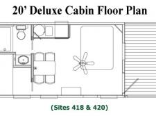 20' Deluxe Cabin Floor Plan