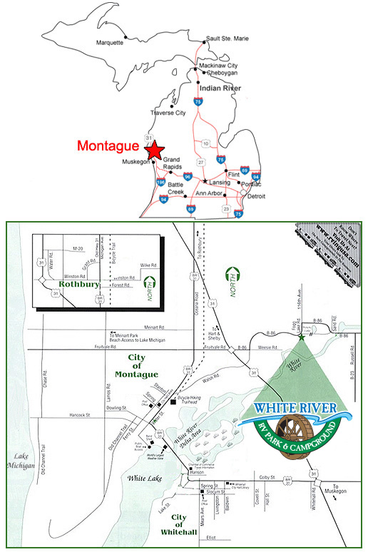 Map to White River Campground